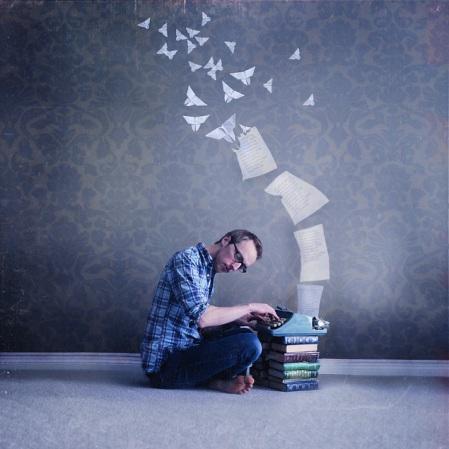 typing, writing, photo, books
